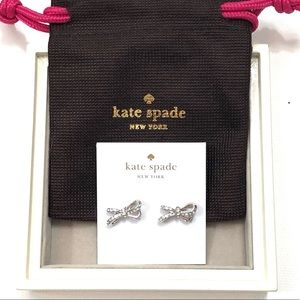 ♠️ Kate Spade Silver Bow Earrings